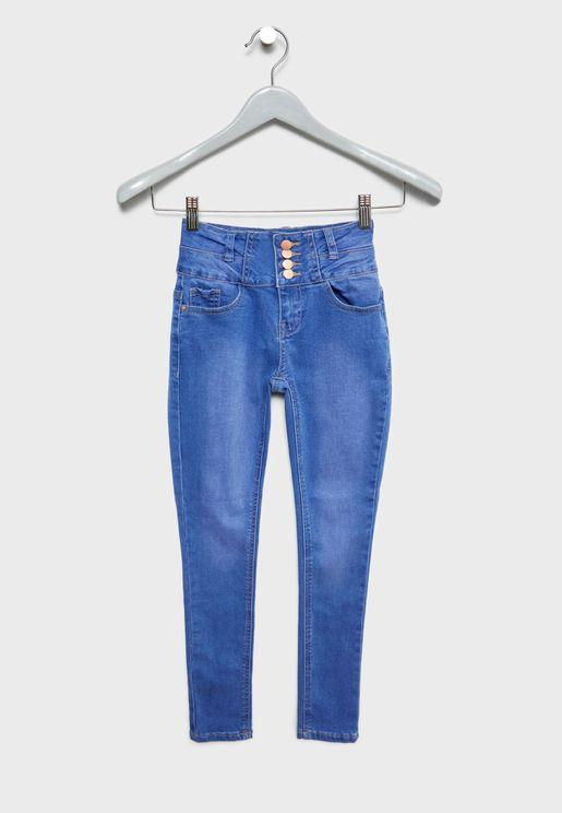 Teen High Waist Skinny Jeans