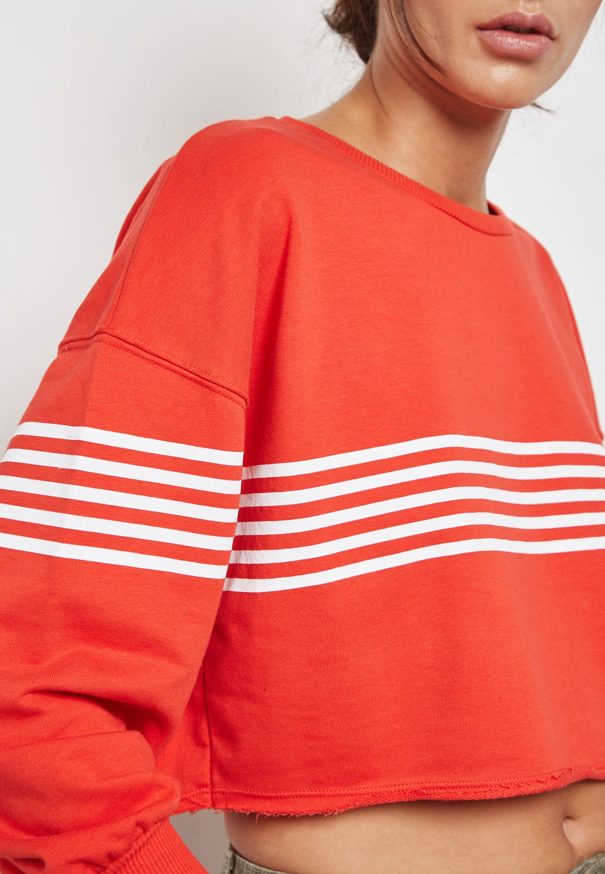 Contrast Striped Sweatshirt