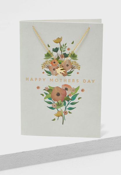Happy Mothers Day Dove Necklace Giftcard