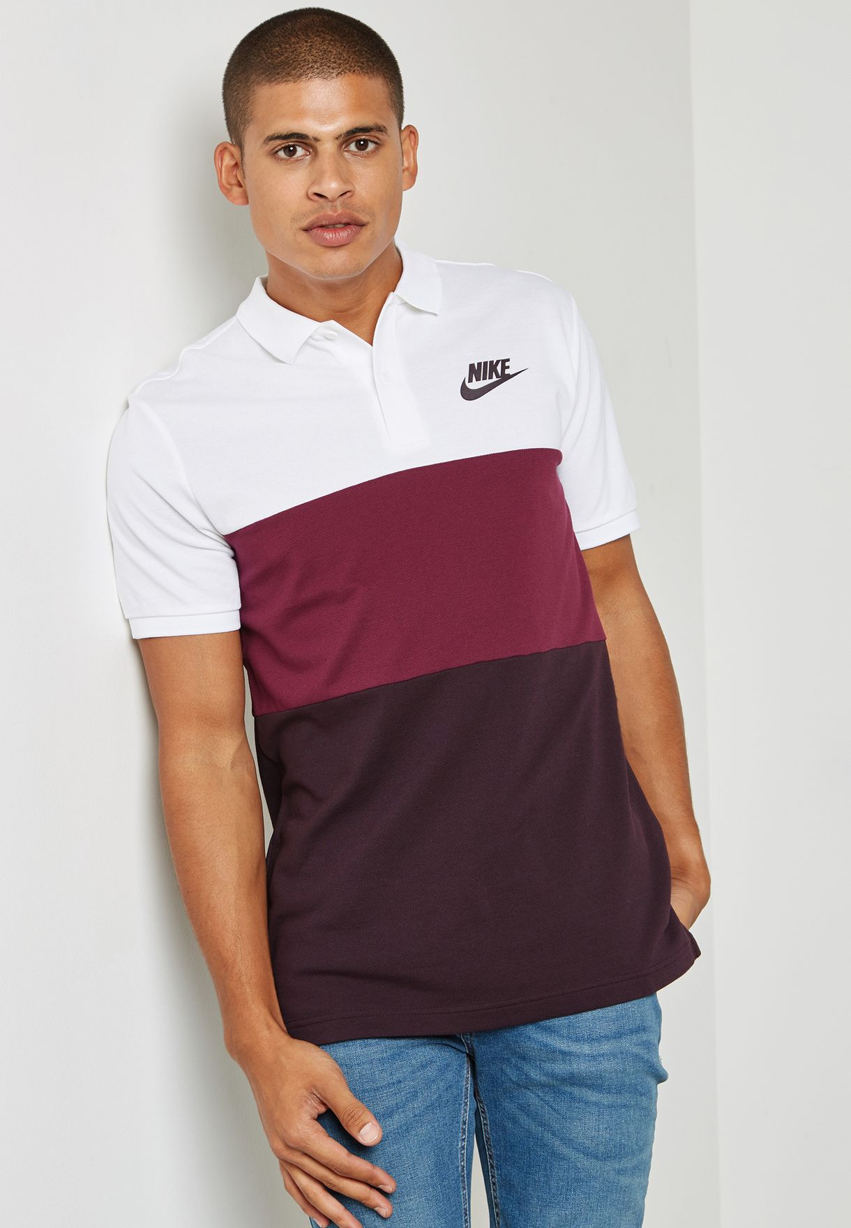 2b94b4736826 Shop Nike multicolor Matchup Colour Block Polo 847646-104 for Men in ...