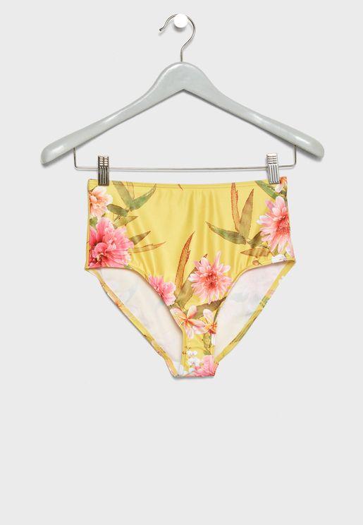 High Waist Printed Bikini Bottom