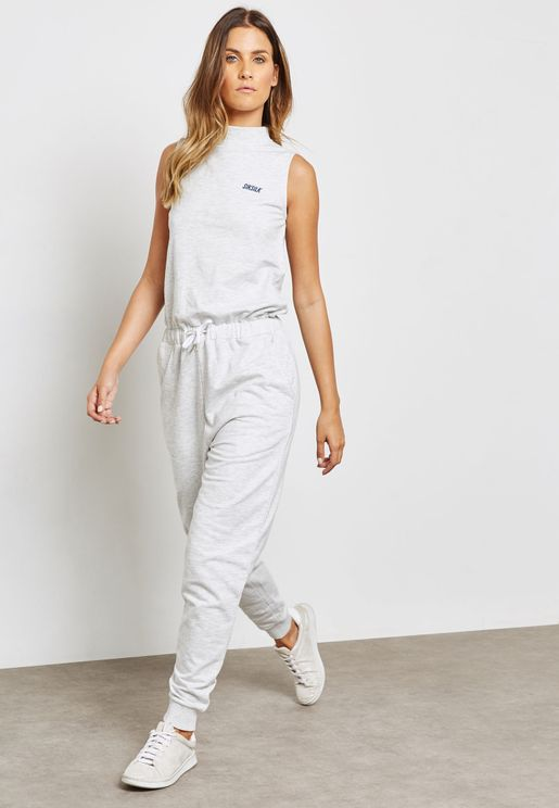 High Neck Tie Waist Jumpsuit