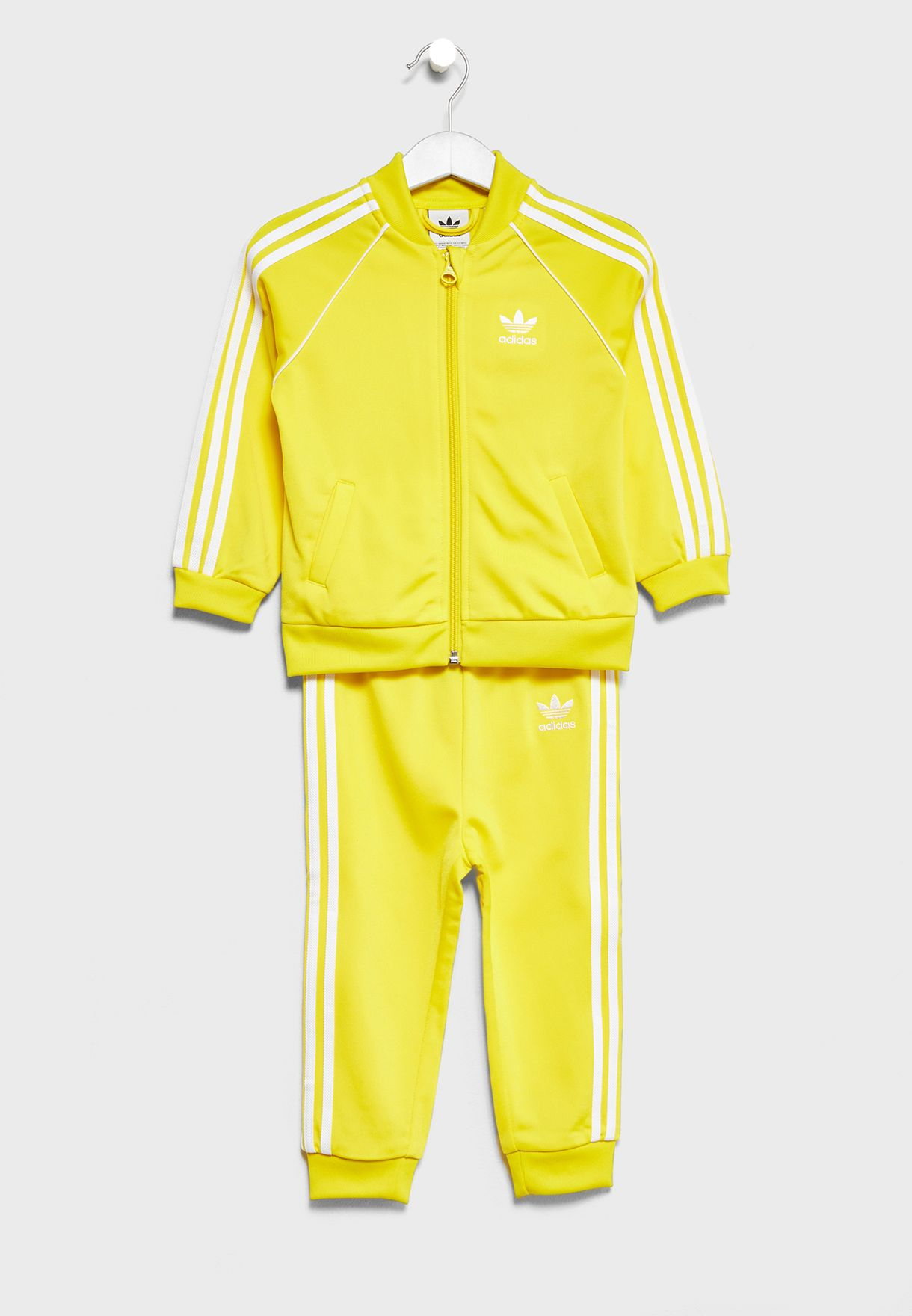 f9bf0926173b Shop adidas Originals yellow Infant Superstar Tracksuit CE1978 for ...