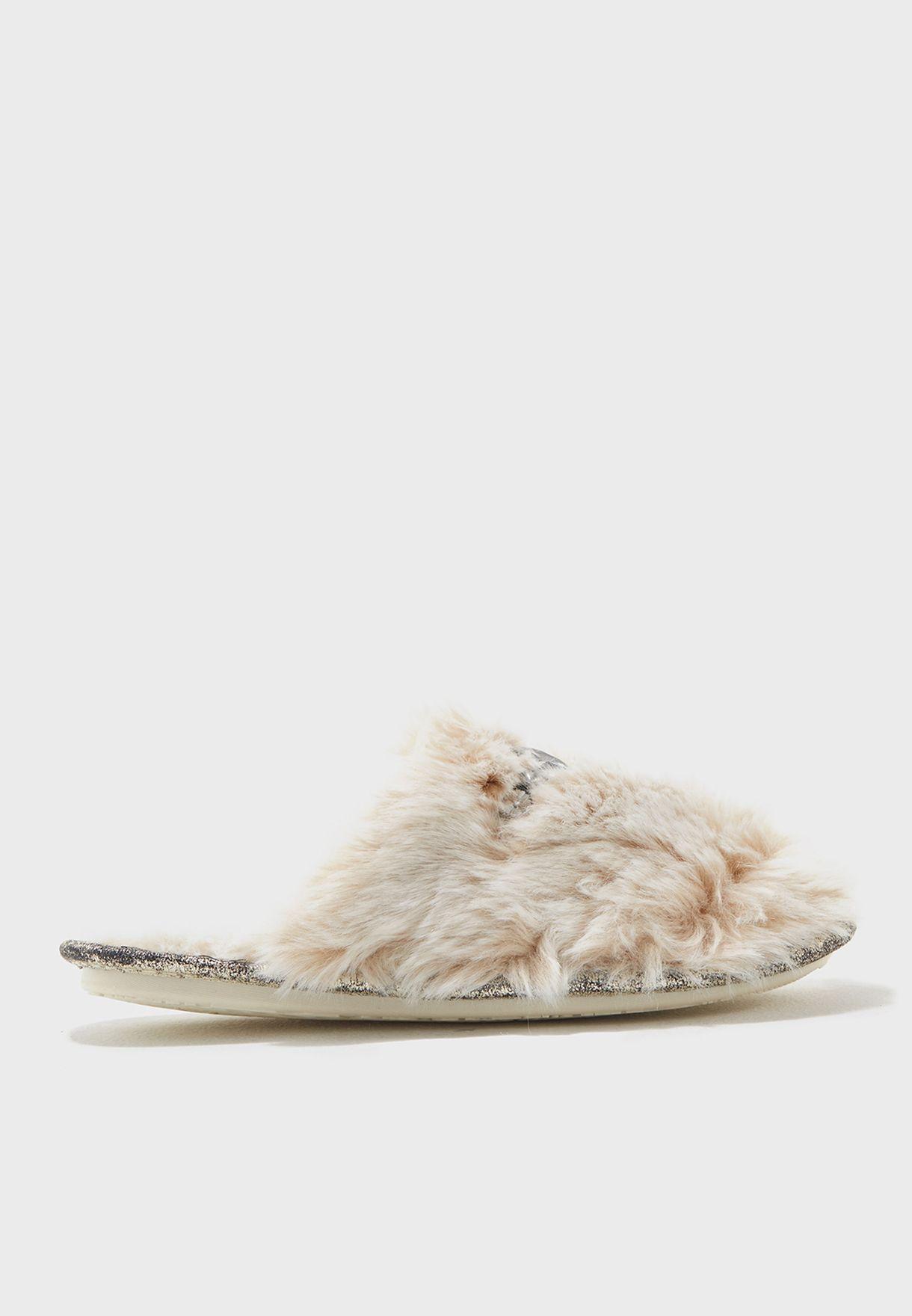 415be336d32 Shop Pretty You London beige VOGUE Slip On Vogue for Women in Qatar ...