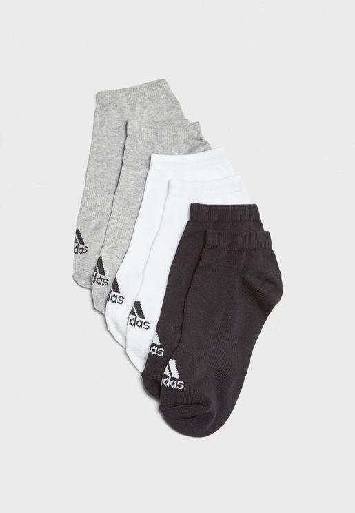 6 Pack No Show Socks