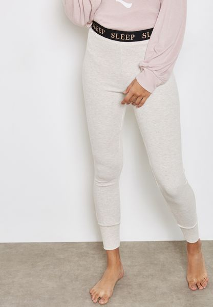 Slogan Band Pyjama Leggings