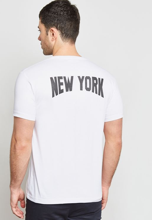 New York Back Print Crew Neck T-Shirt