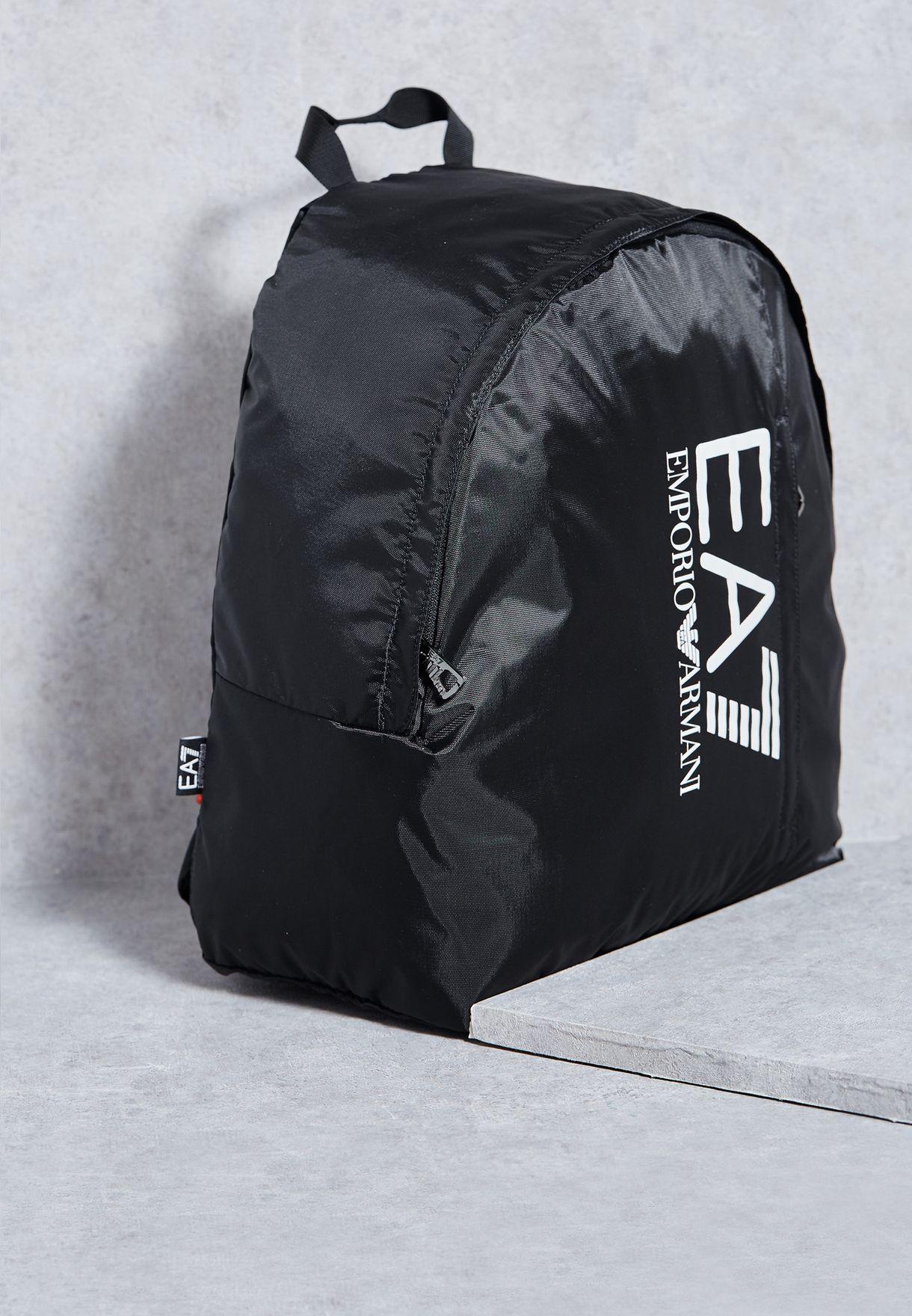 af514fce5edf Shop Ea7 Emporio Armani black Logo Backpack CC733-275667-00020 for Men in  Saudi - EA531AC81GBA