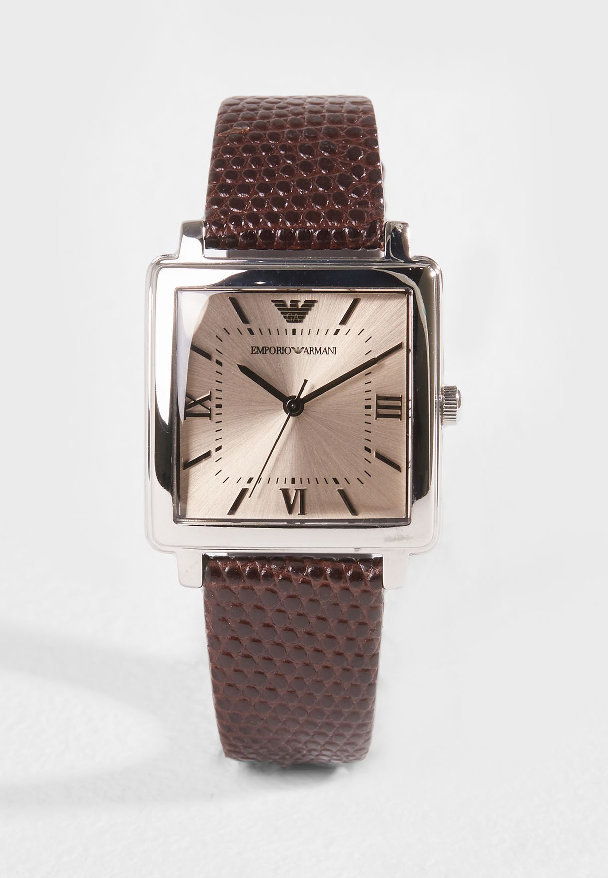 730ffa35e تسوق ساعة مربعة عصرية ماركة امبريو ارماني لون أسود AR11099 في ...