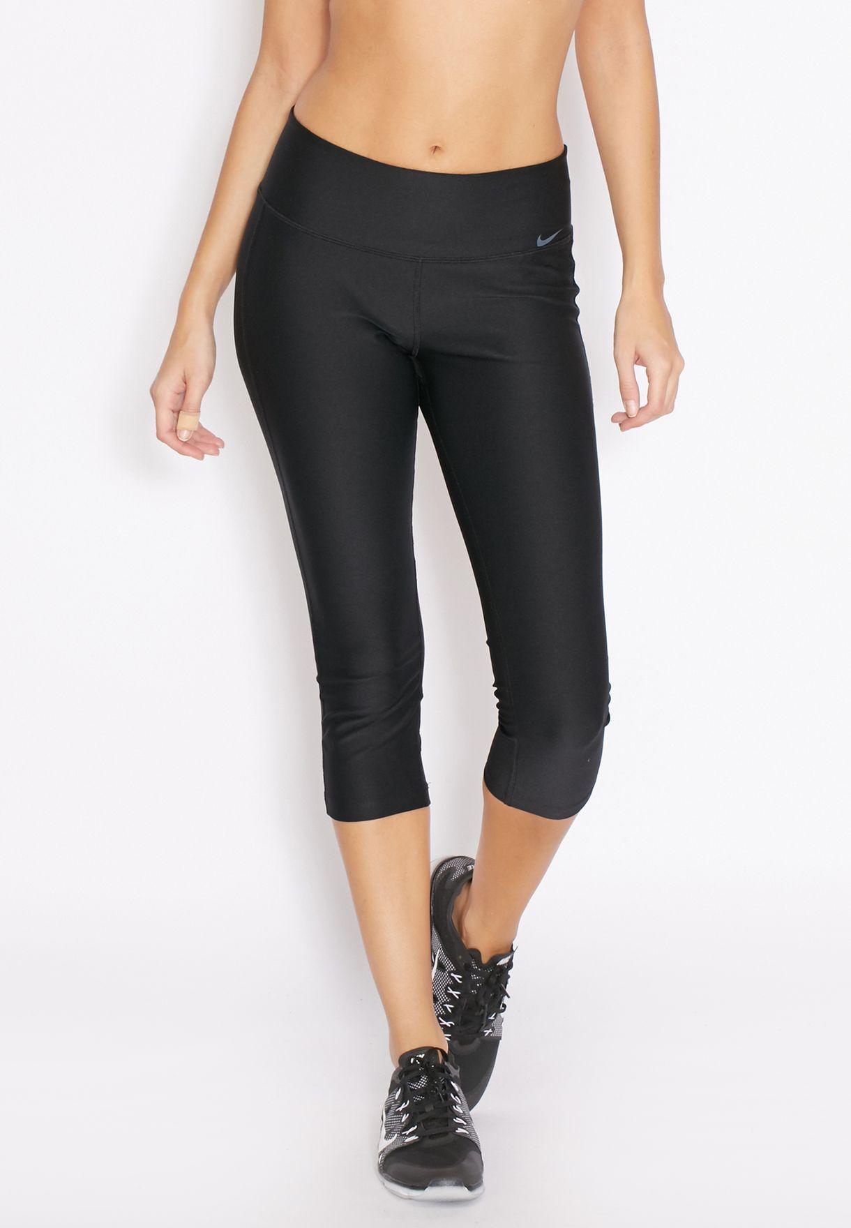 d2667e683844f Shop Nike black Dri-Fit Capri 802948-010 for Women in Saudi ...