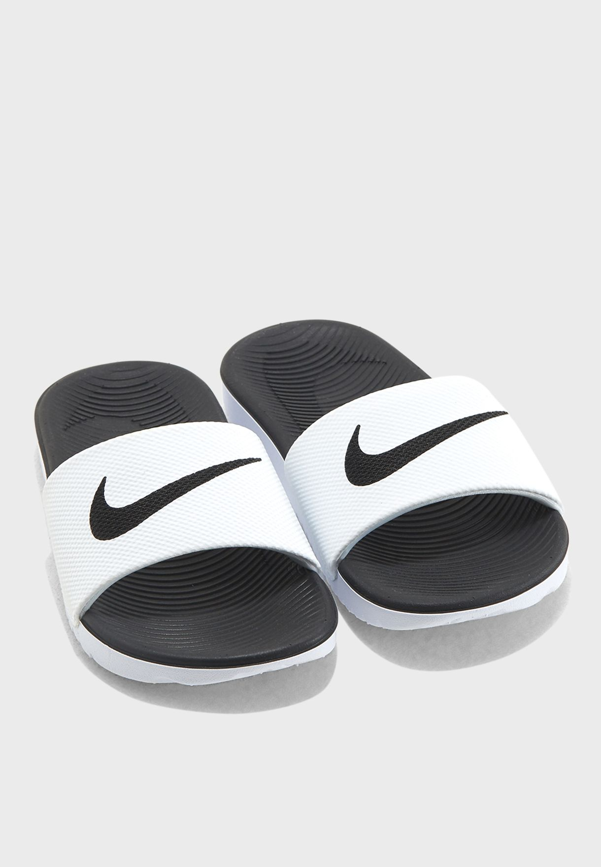 800bdb0a1 Shop Nike white Kids Kawa Slide 819352-100 for Kids in UAE ...