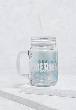 Mermaid Goals Mason Jar