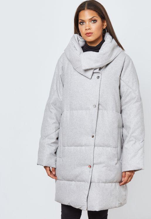 معطف طويل بنمط فضفاض