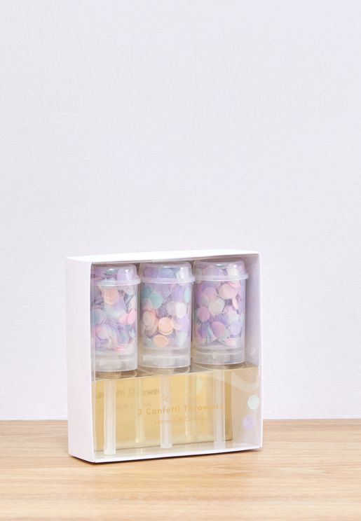 3 Pack Pastel Confetti Throwers