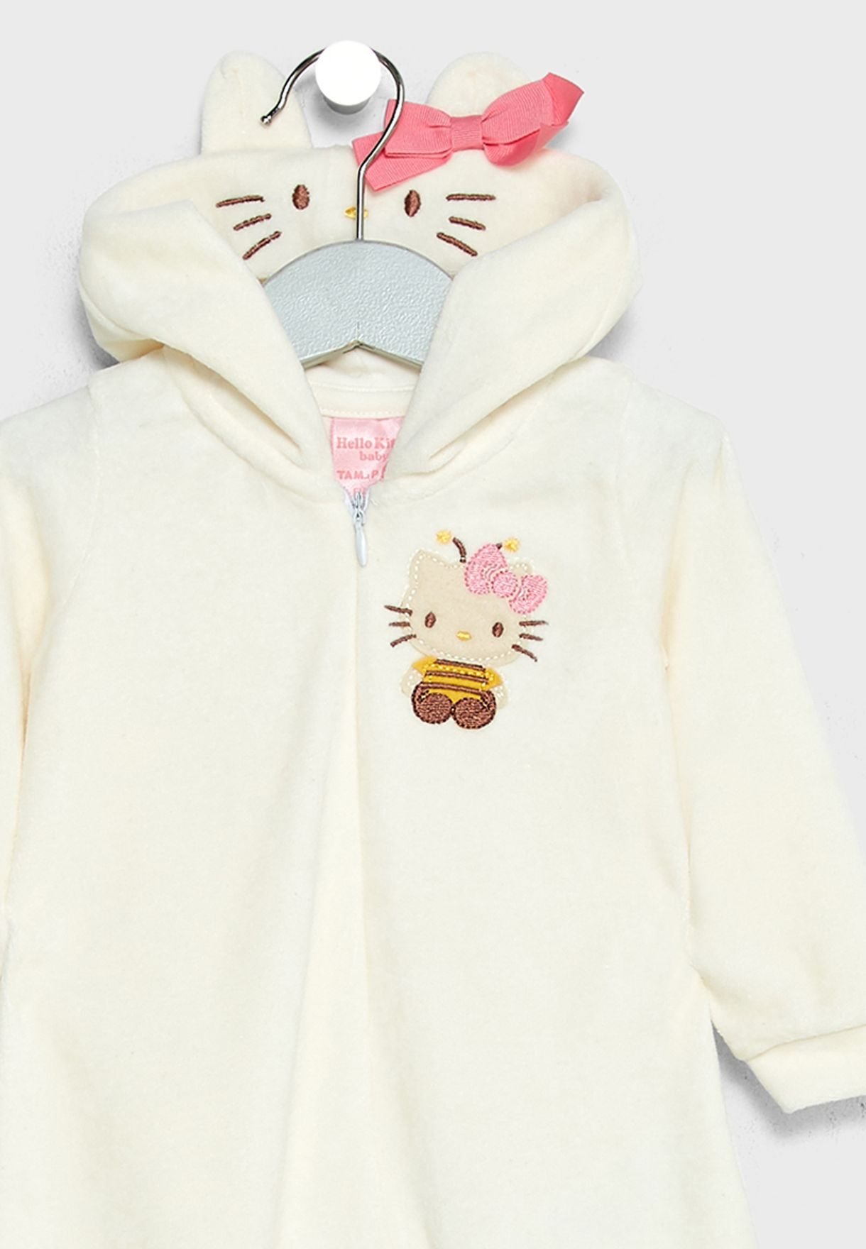89108b547c Shop Hello Kitty white Infant Plush Bodysuit 87777 for Kids in Oman ...