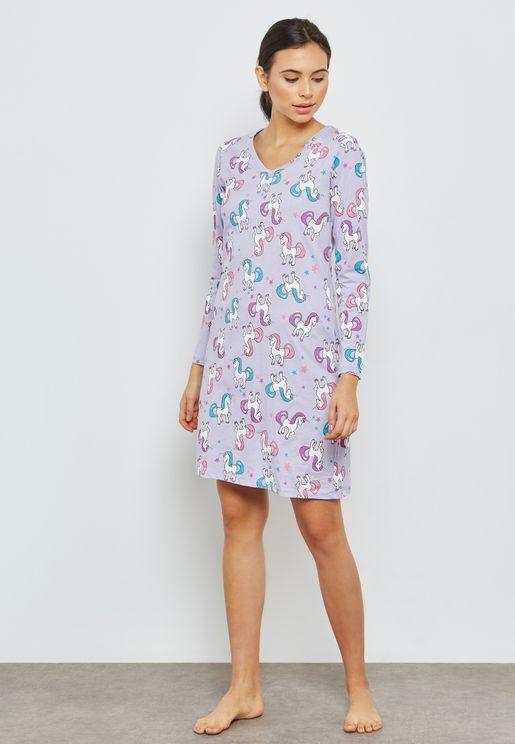 Printed Night Dress