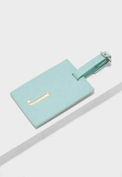 J Letter Luggage Tag