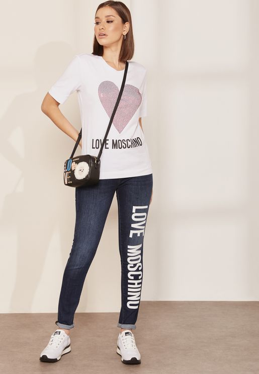 Love Moschino. Logo Sleeve Hooded Jacket. 1930 AED · M · L · Logo Skinny  Jeans 9d905b99498a