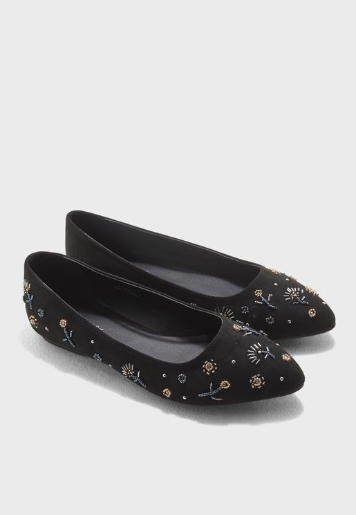 Lost Embellished Cross Strap Slip On