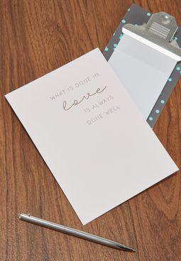 بطاقة معايدة بعبارة مطبوعة