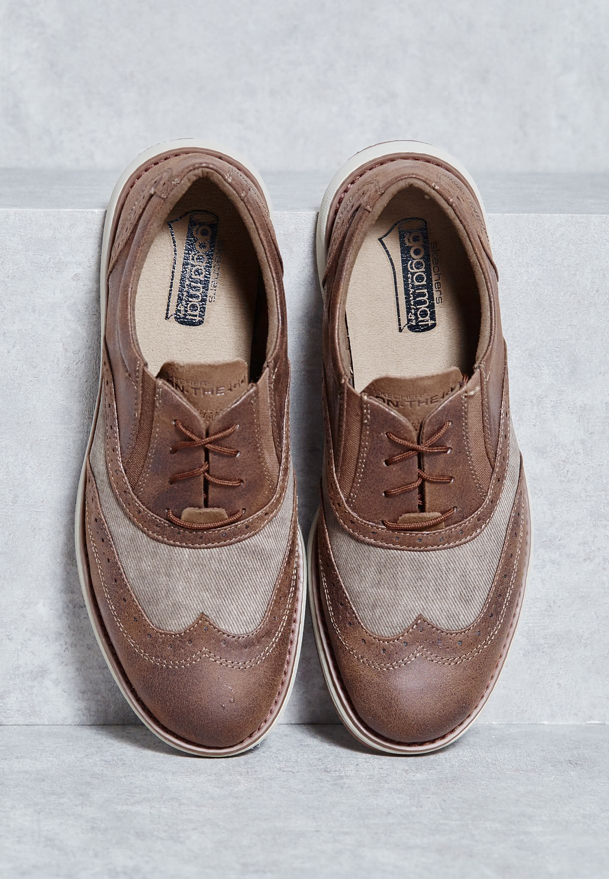 skechers on the go hybrid mens casual brogues