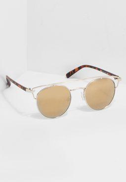 نظارة شمسية عاكسة ودائرية