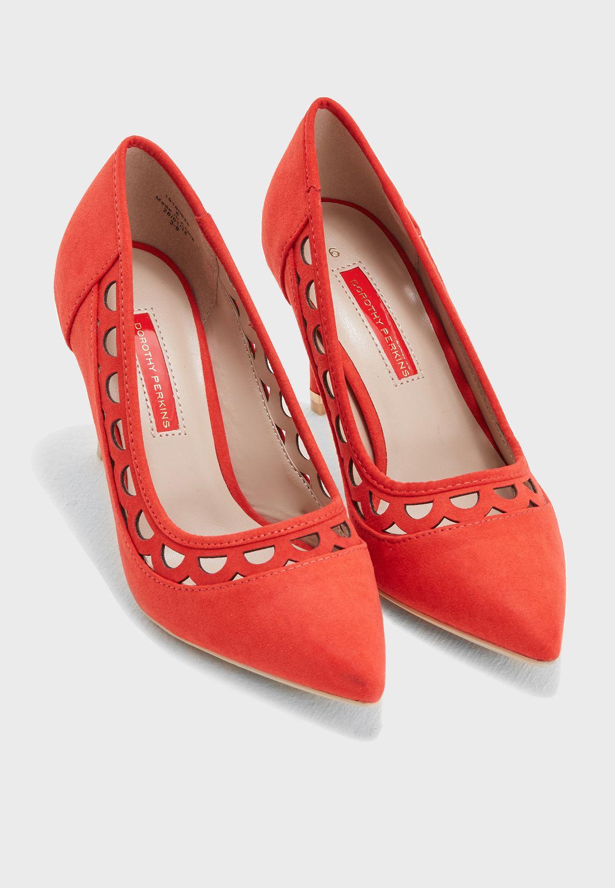 Glaze Cut Out Court Shoes