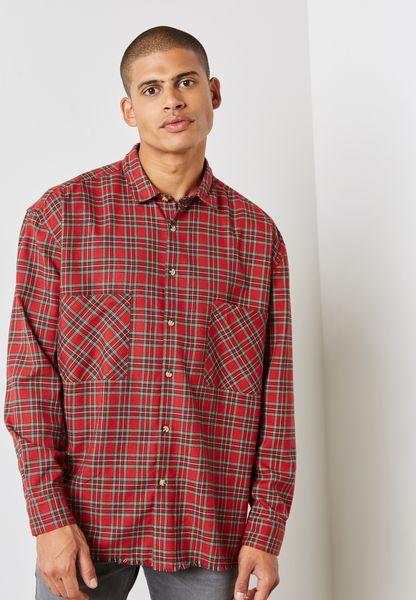Tartan  Regular Shirts