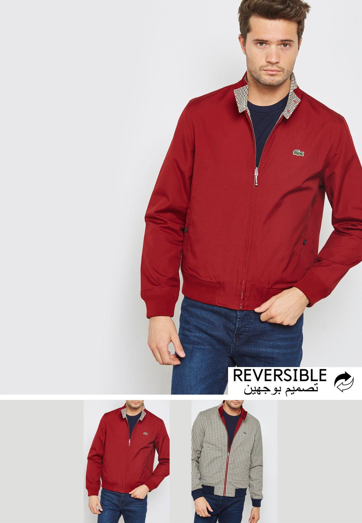 c1ec89003 Shop Lacoste Live Brand multicolor Reversible Checked jacket BH9128-00 C7R  for Men in UAE - LA360AT81NLU