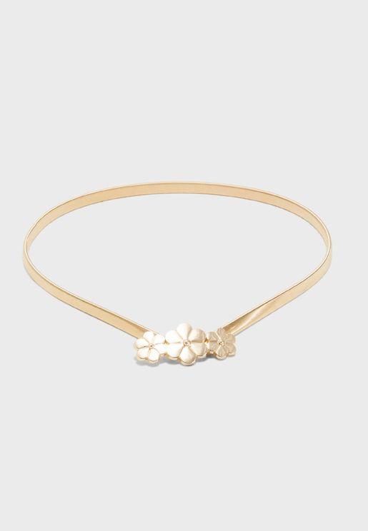 Floral Chain Belt