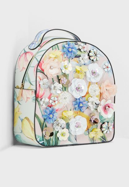 3D Floral Backpack