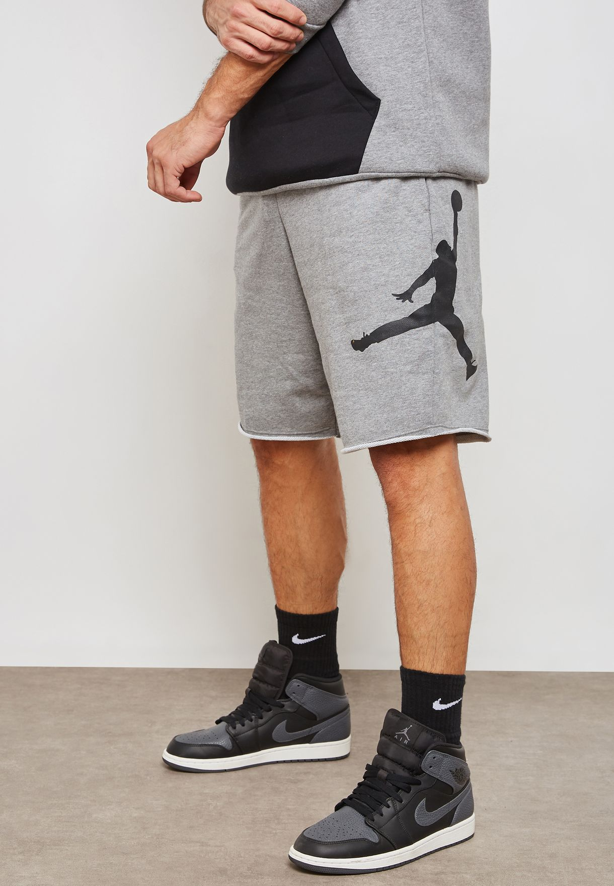 c2706a43e34 Shop Nike grey Jordan Jumpman Air Shorts AQ3115-091 for Men in UAE -  NI727AT71AHW