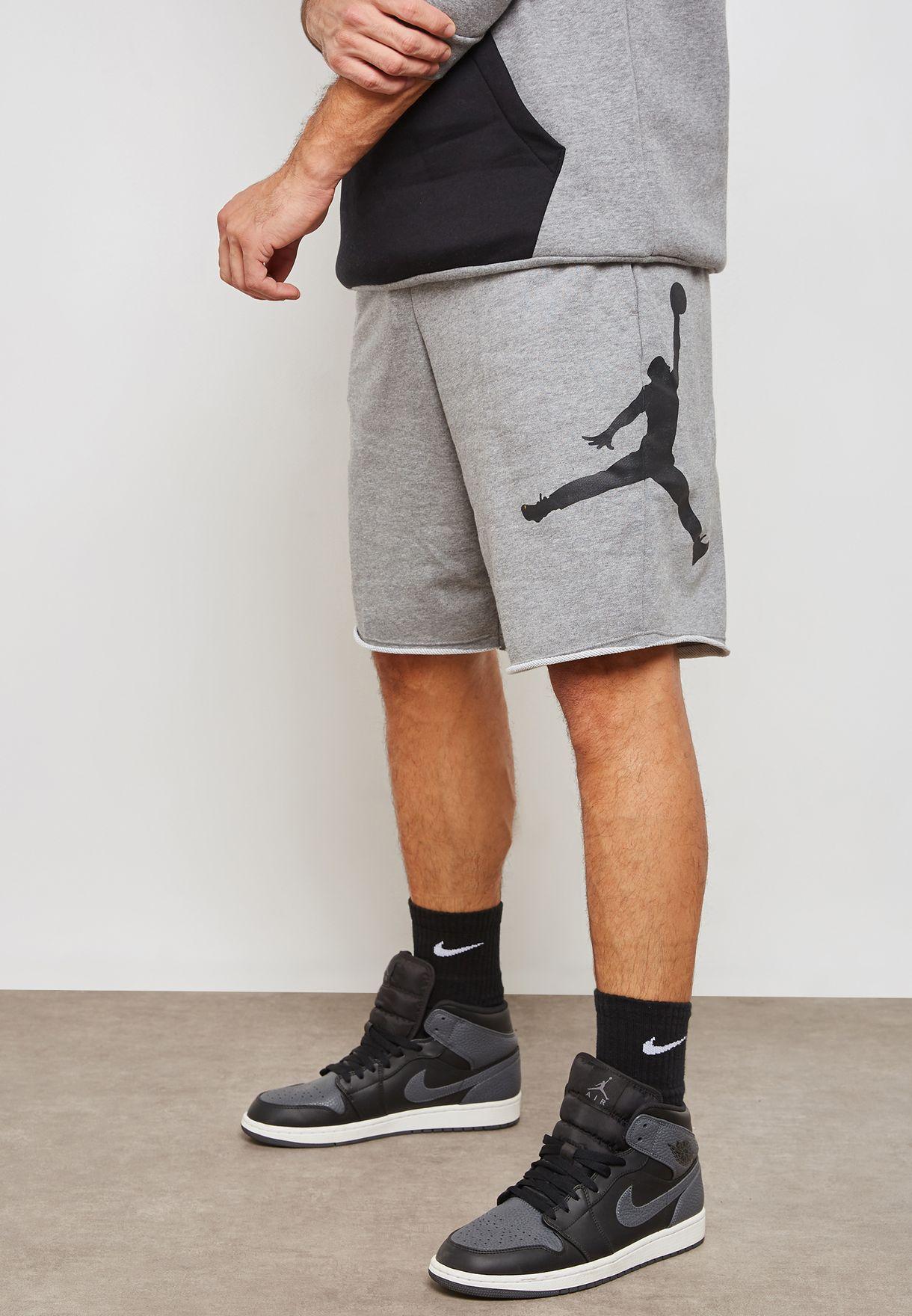 f0f7892b6ee Shop Nike grey Jordan Jumpman Air Shorts AQ3115-091 for Men in UAE -  NI727AT71AHW