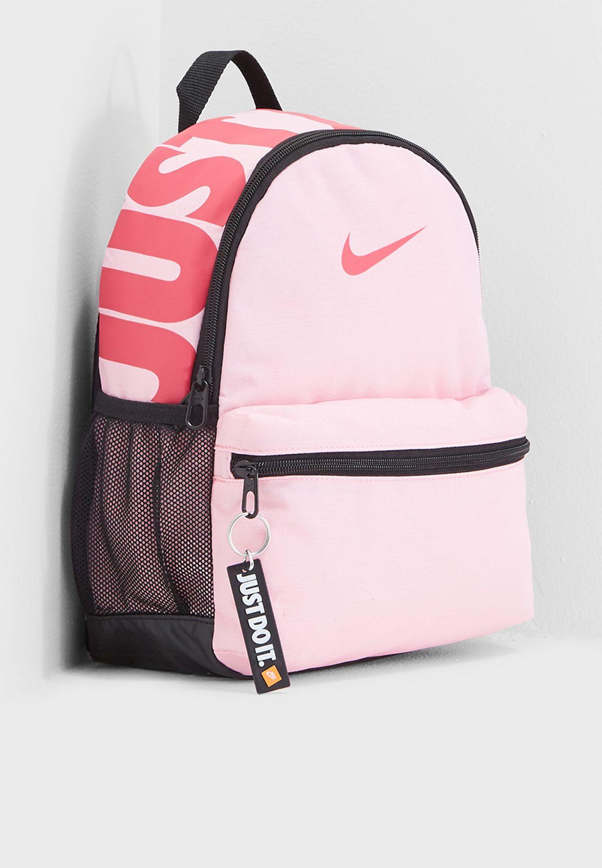 d6d5599347 Shop Nike pink Just Do It Brasilia Backpack BA5559-654 for Kids in ...
