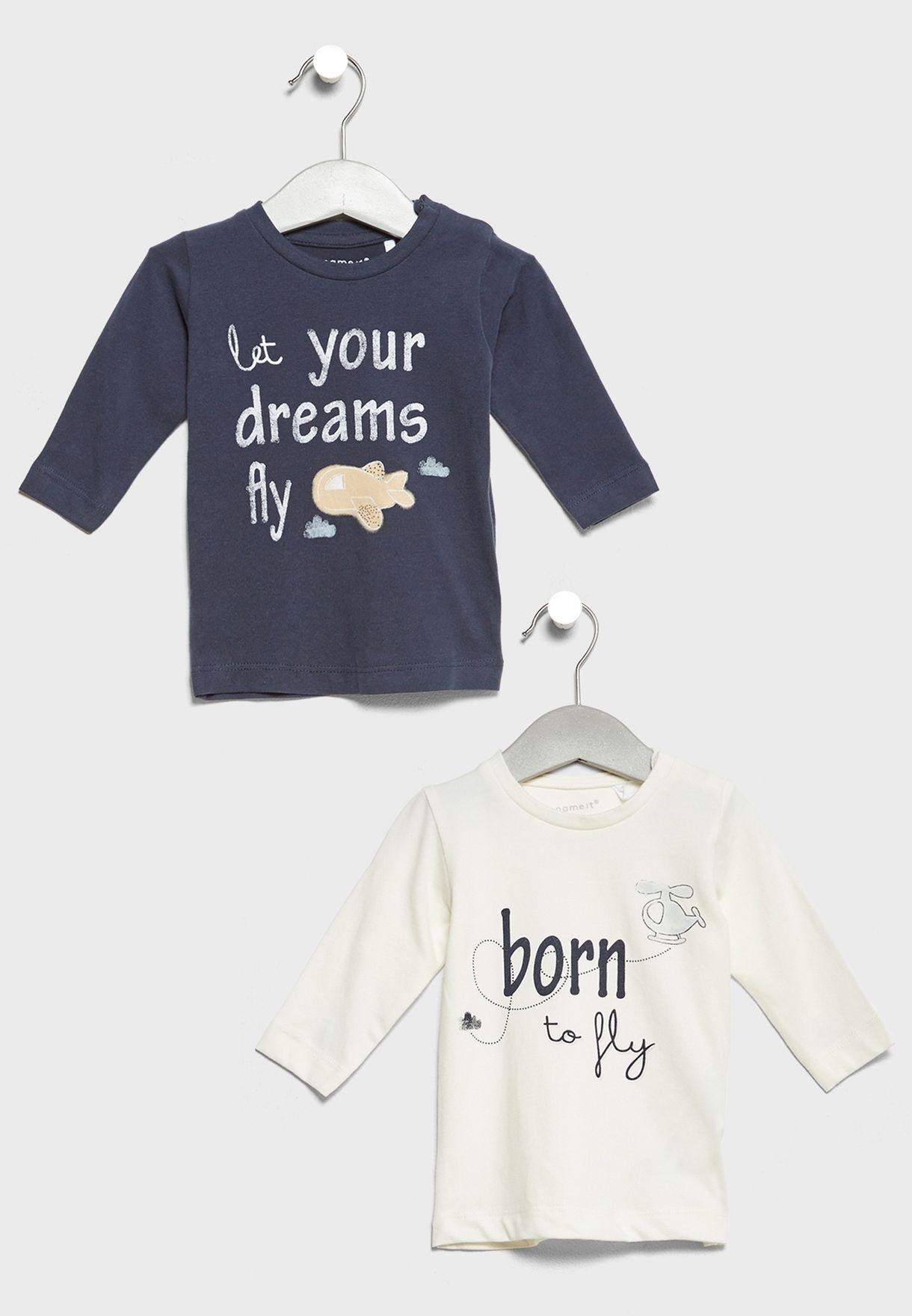 Infant 2 Pack Slogan T-Shirts