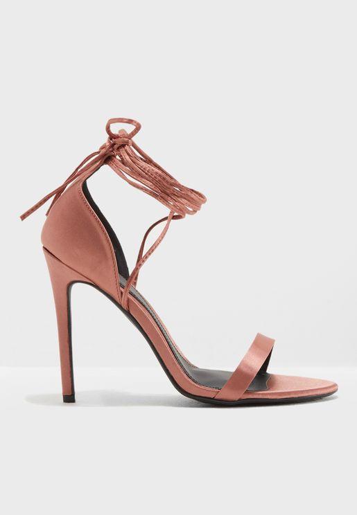 Cross Strap Heel Sandal