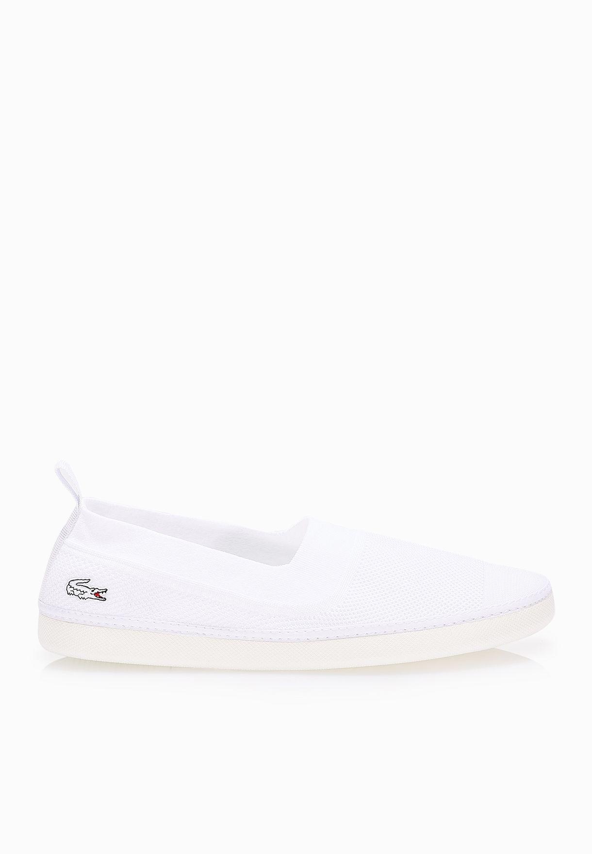 e0965e801 Shop Lacoste white L.Ydro 116 1 Slip ons 31SPM0092-001 for Men in ...