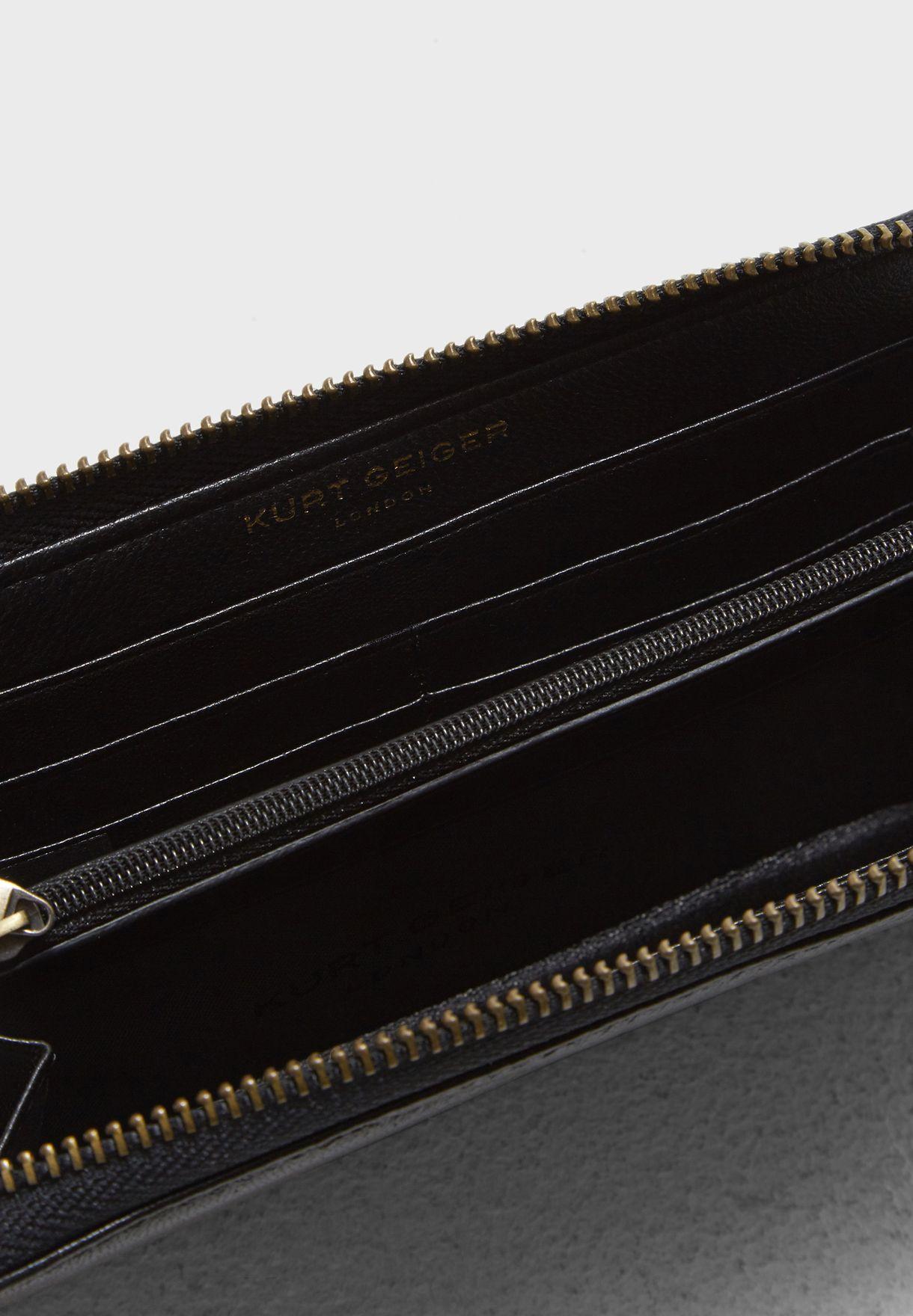 محفظة جلد اصلي مدروزة