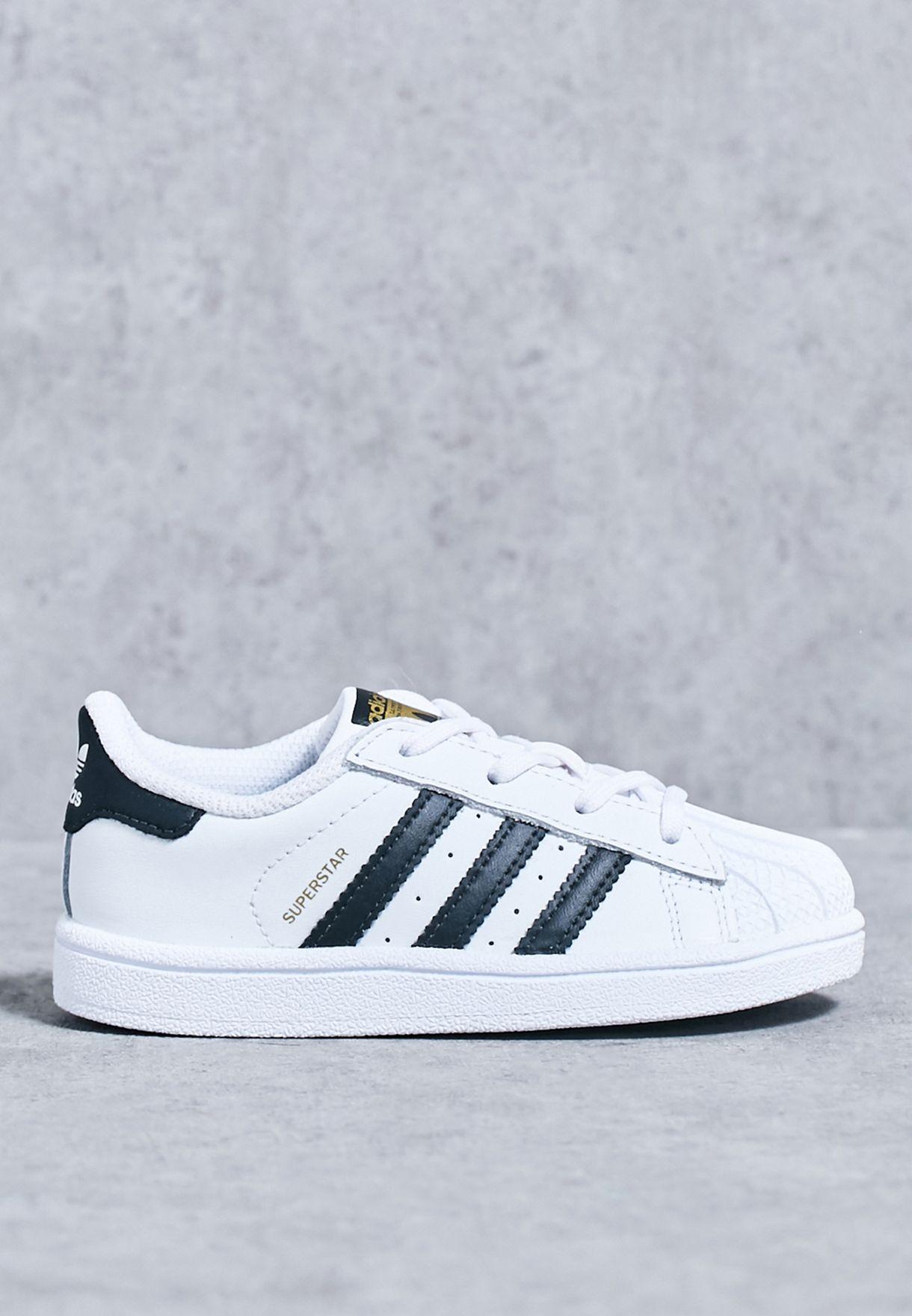 Shop Adidas Originals White Superstar Infant Bb9076 For Kids In Oman