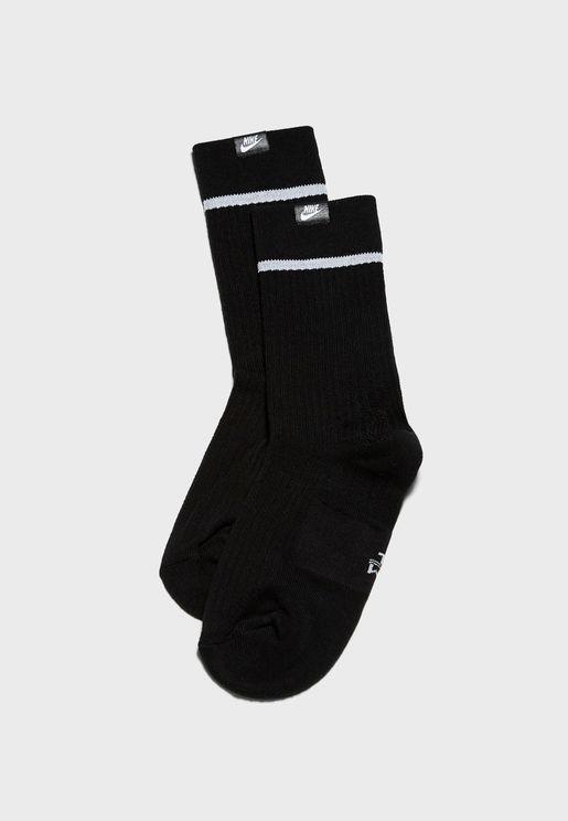 2 Pack Essential Crew Socks