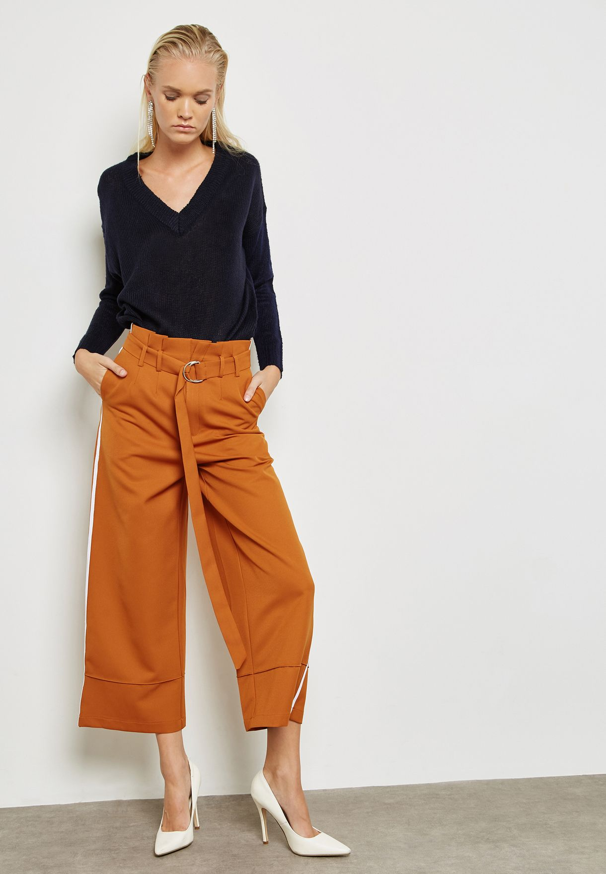 Side Slit Oversized Sweater