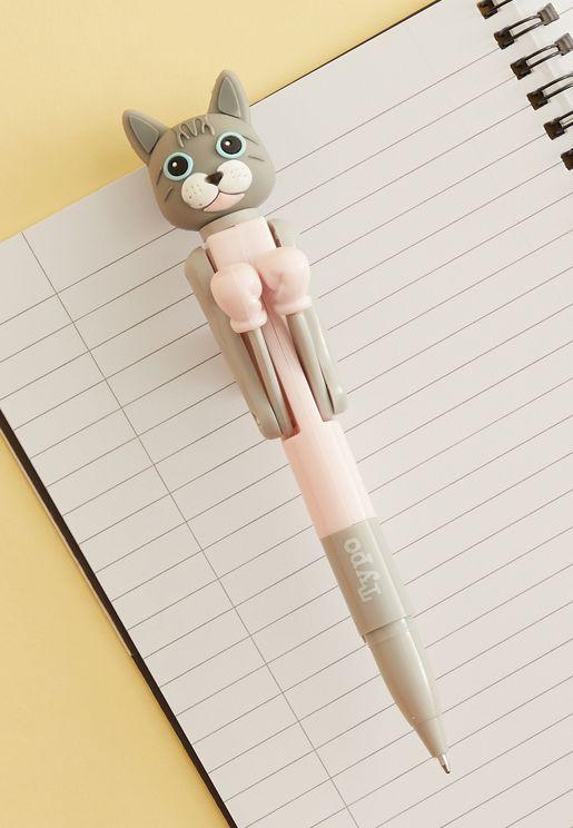 قلم مزين بشكل قط
