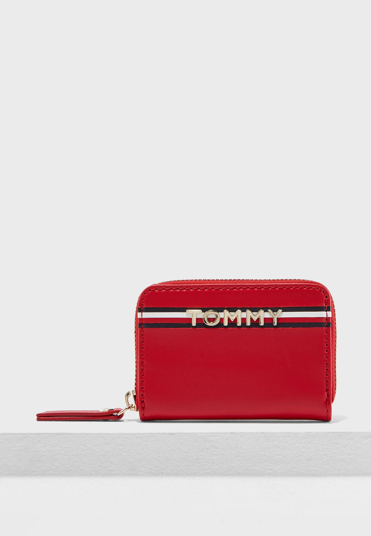 cb03e0c9c1 Shop Tommy Hilfiger red Mini Iconic Purse AW0AW05734 for Women in ...