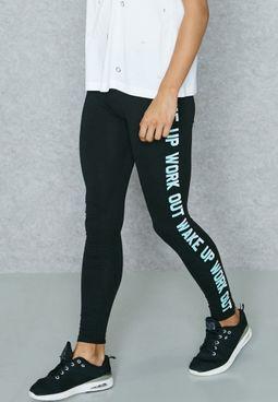 Side Slogan Leggings