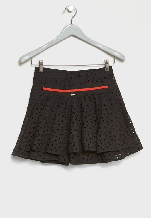 Teen Eyelet Skirt