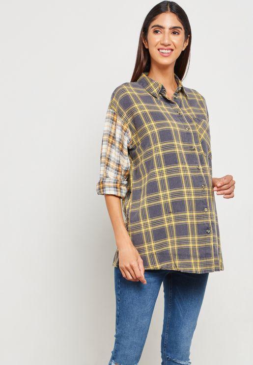Long Sleeve Checked Shirt