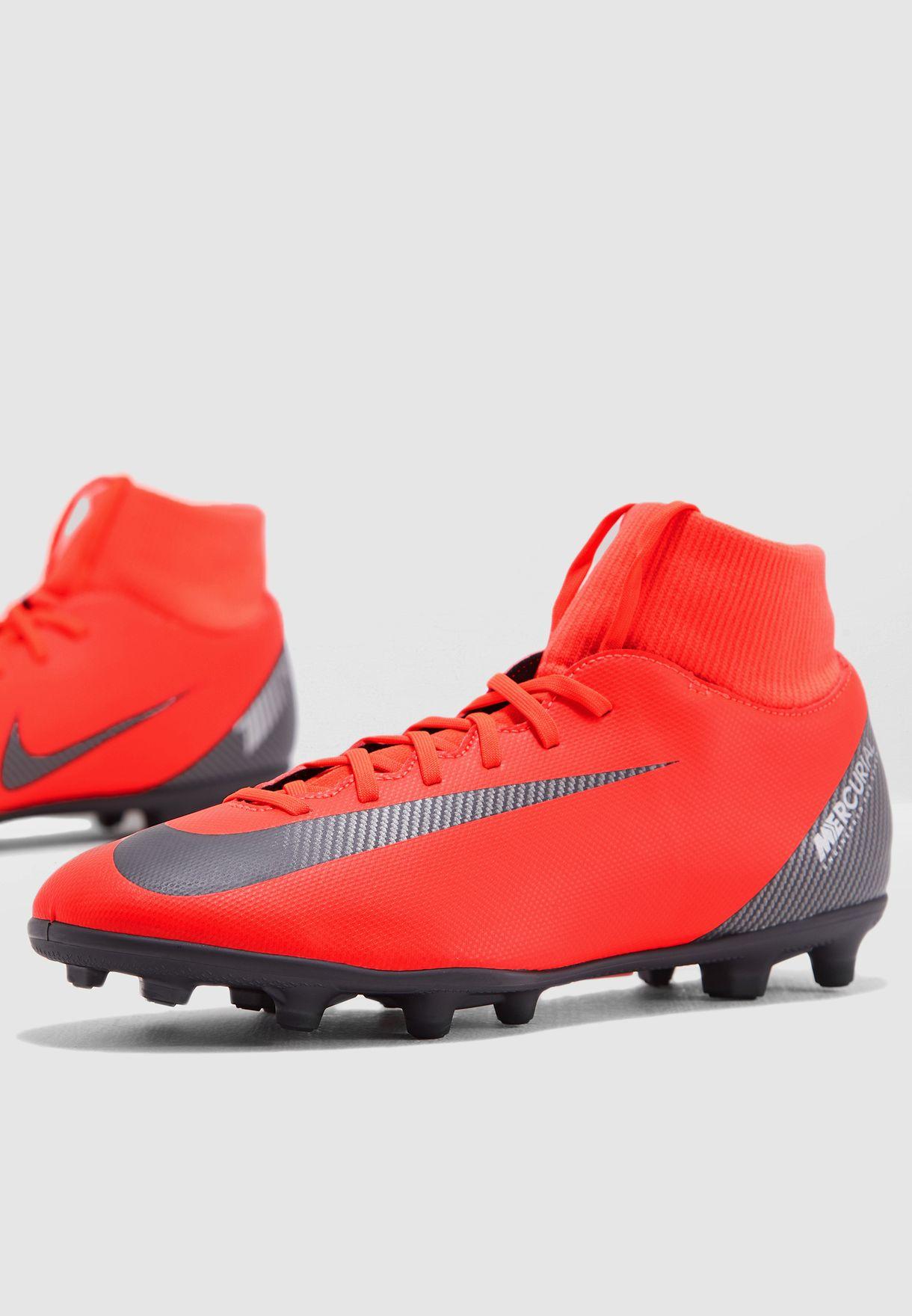 1a397e32a Shop Nike red Mercurial Superfly 6 Club CR7 FG AJ3545-600 for Men in ...