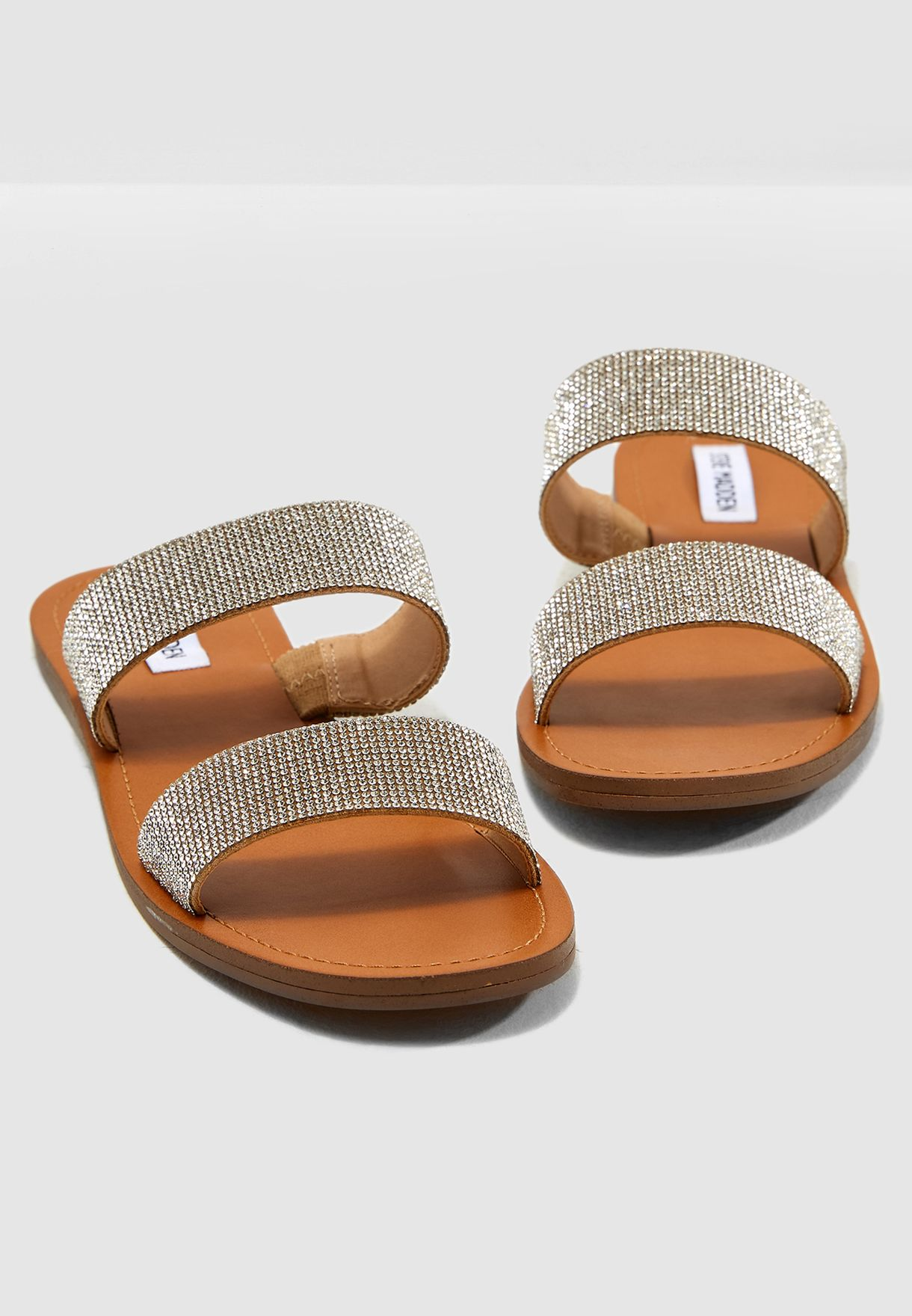 59a4333d3 Shop Steve Madden browns Rage Flat Sandal RAGE for Women in Saudi ...