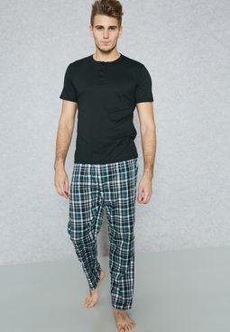 Check Print Pyjama Set