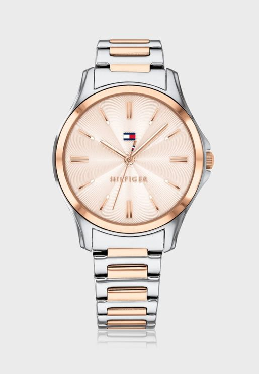 Lori Steel Strap Analog Watch
